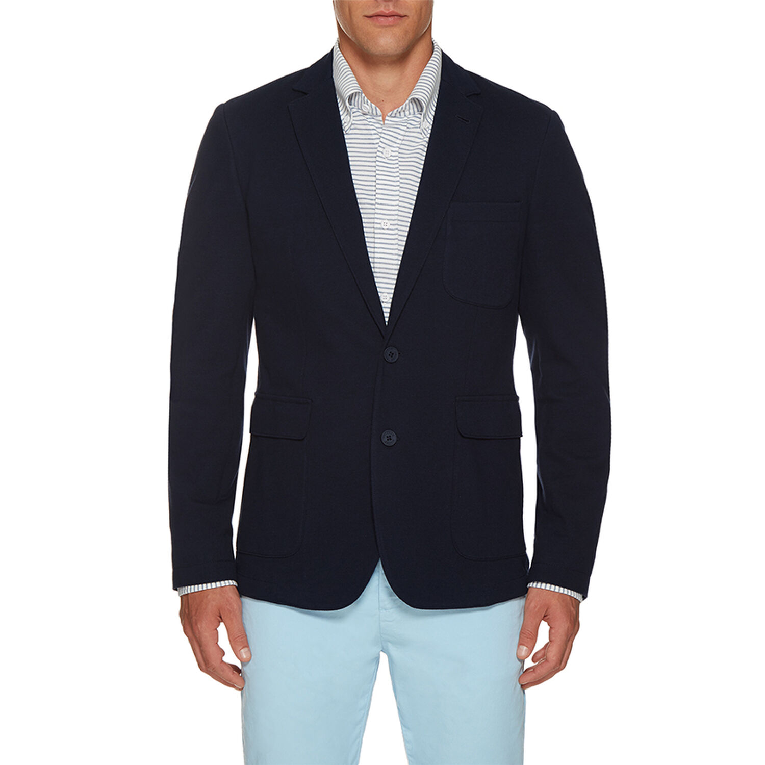 863858fb Edgar Pique - Navy Tailored-Fit Single Breasted Blazer | Orlebar Brown