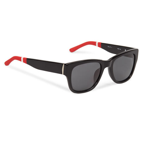 Orlebar Brown D-Frame Sunglasses BLACK/ SILVER/ RESCUE RED/ GREY
