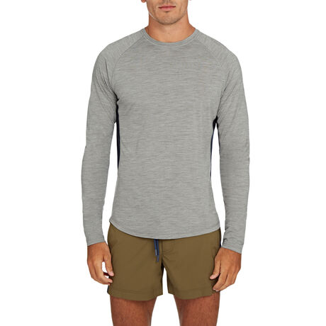 Orlebar Brown Ottley Merino GREY MELANGE/NAVY