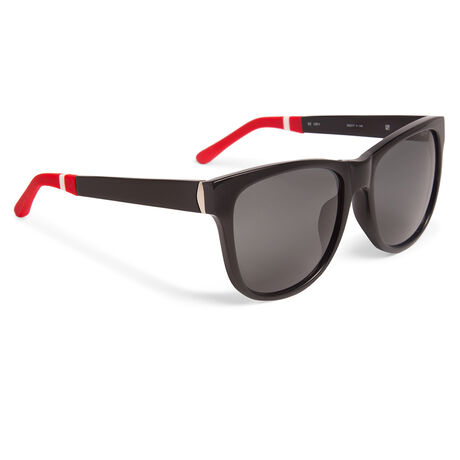 Orlebar Brown D-Frame Sunglasses BLACK/SILVER/RED/SOLID GREY