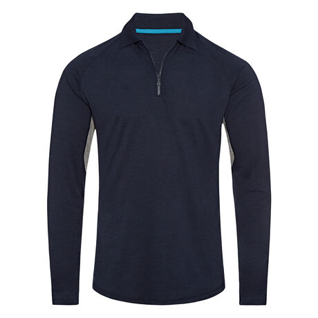 Orlebar Brown Lewis Merino NAVY/GREY MELANGE