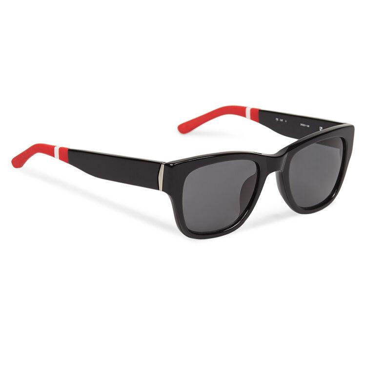 D-FRAME SUNGLASSES - Black D-Frame Sunglasses | Orlebar Brown