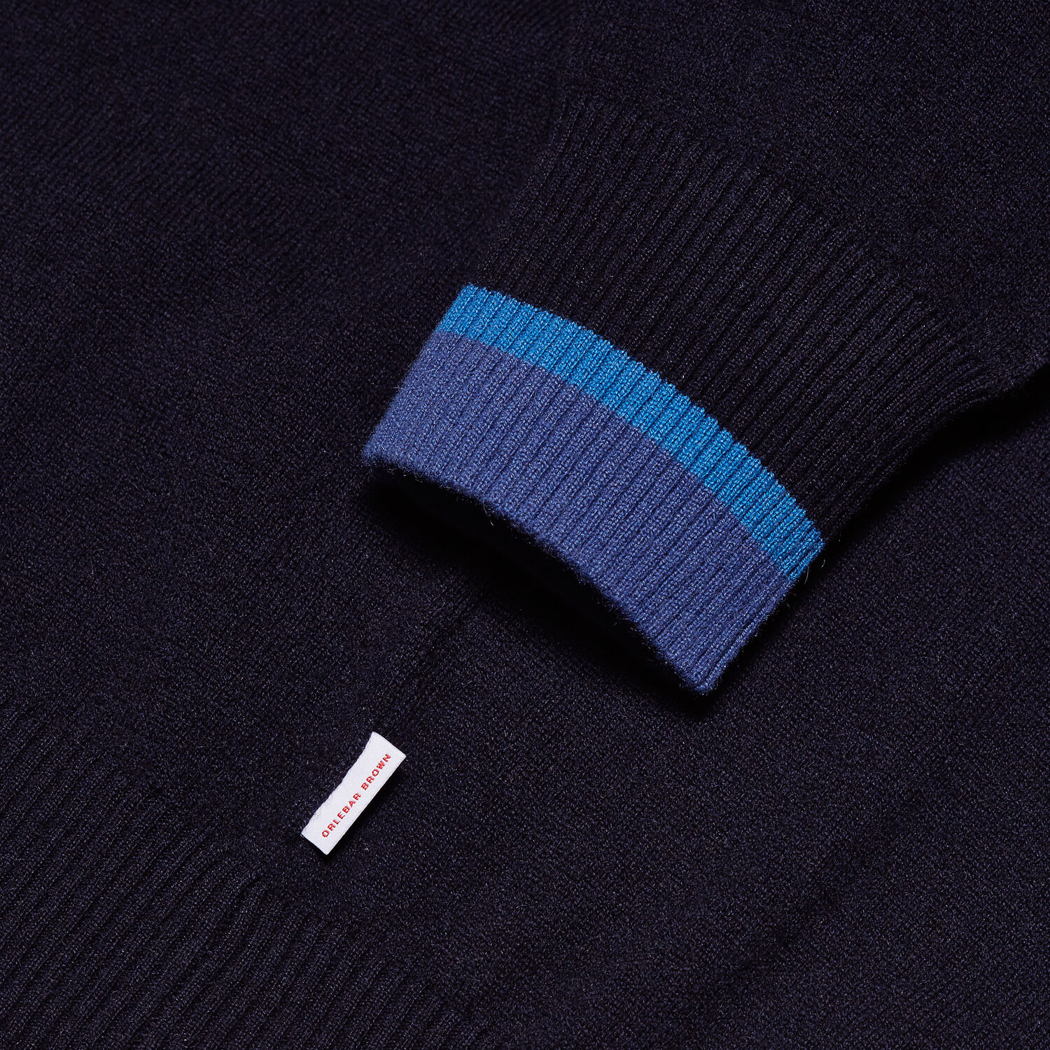 Orlebar Brown Ethan Cashmere NAVY/BUTTERFLY BLUE