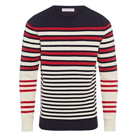 Orlebar Brown Barnes Stripe NAVY/CLOUD/BLUSH