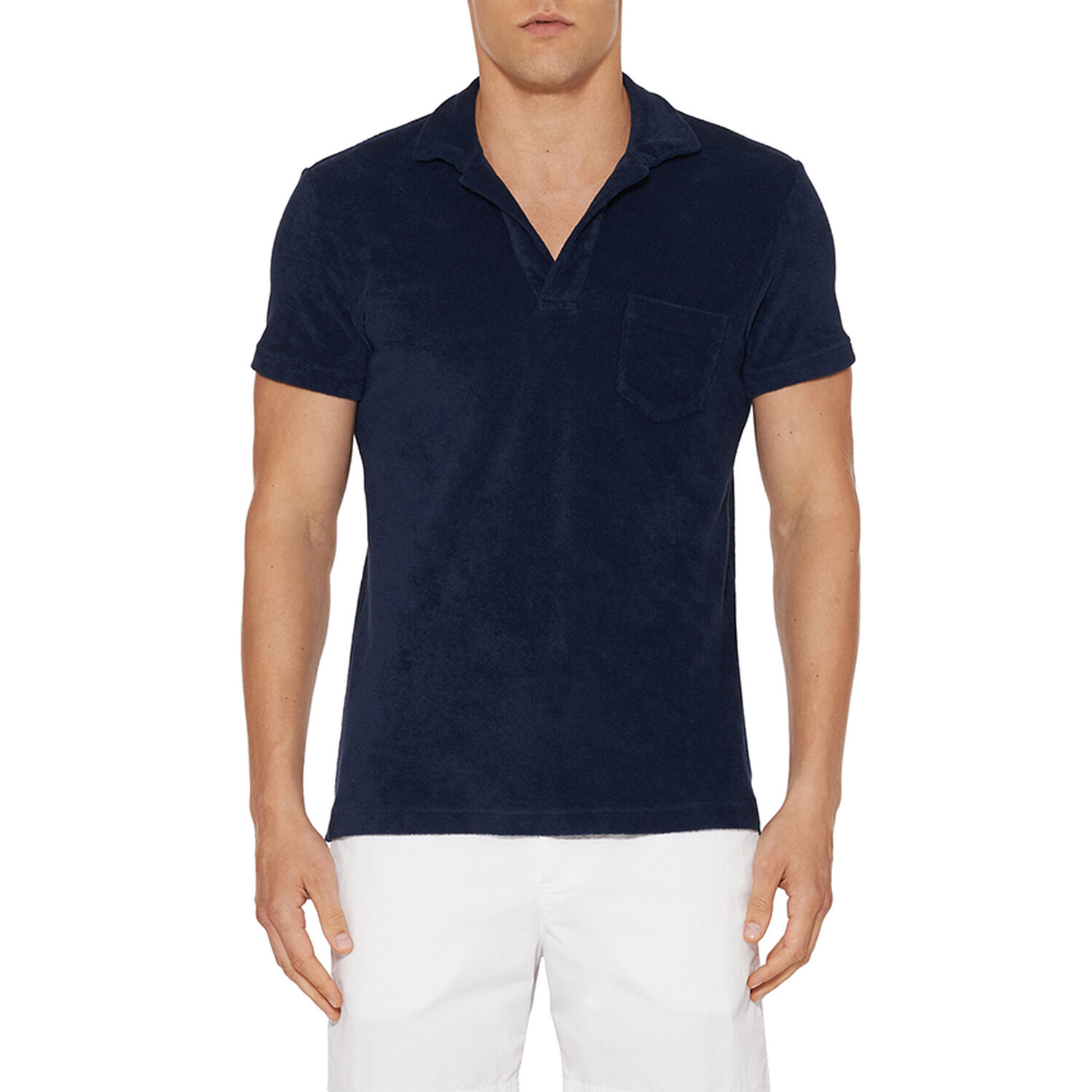 91dc923ff Terry - Navy Towelling Resort Polo | Orlebar Brown