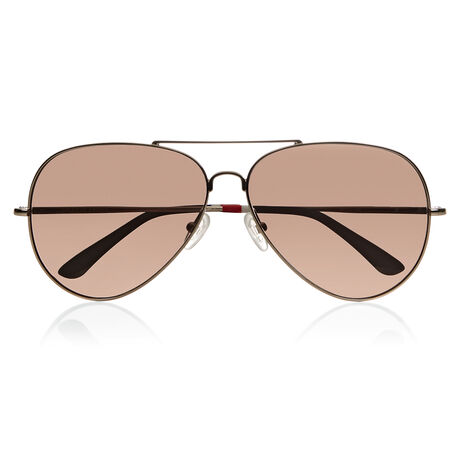 Orlebar Brown Aviator Sunglasses LIGHT GOLD/NAVY/BROWN MIRROR