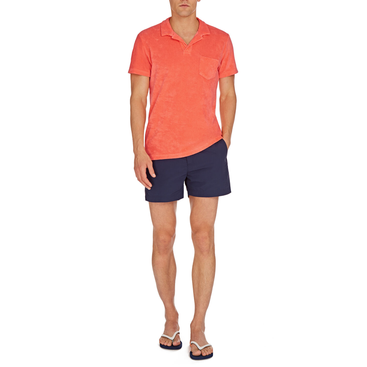 Orlebar Brown Terry Towelling HOT CORAL