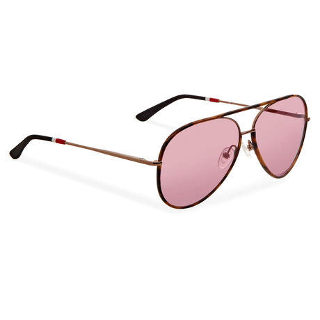 Orlebar Brown Aviator Sunglasses T-SHELL/BRONZE/BL/PURPLE M