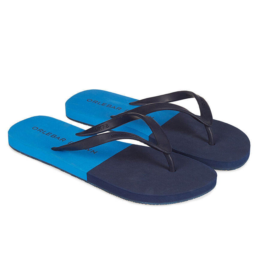 Haston Rubber Flip Flops - NavyOrlebar Brown YR2O9AEZ8X