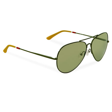 Orlebar Brown Aviator Sunglasses ARMY/CITRINE/ARMY MIRROR