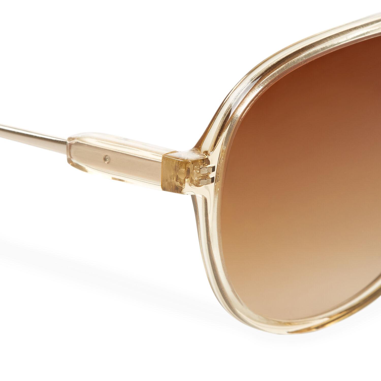 Orlebar Brown Aviator Sunglasses APRICOT/L GOLD/BLACK/BROWN
