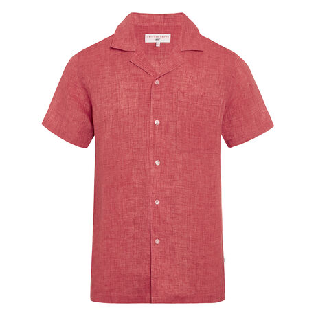 Orlebar Brown Thunderball Shirt CARDINAL