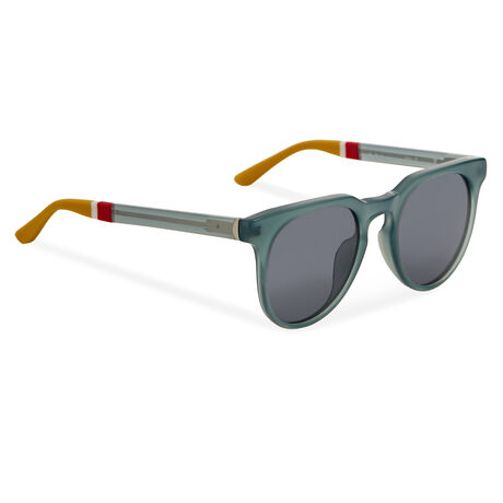Orlebar Brown D-Frame Sunglasses TEAL/SIL/CIT/SOLID BLUE