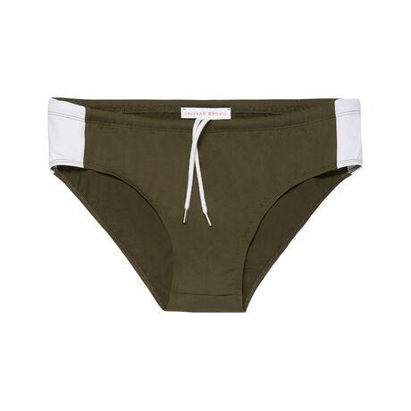 Orlebar Brown Dachshund MILITARY GREEN/WHITE