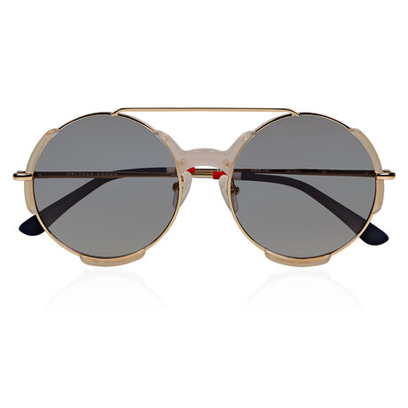 Orlebar Brown Round Sunglasses SMOKE/NAVY/L GD/PEWTER GRAD