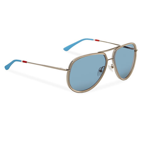 Orlebar Brown Aviator Sunglasses CLEAR/SI/BLUE/RI