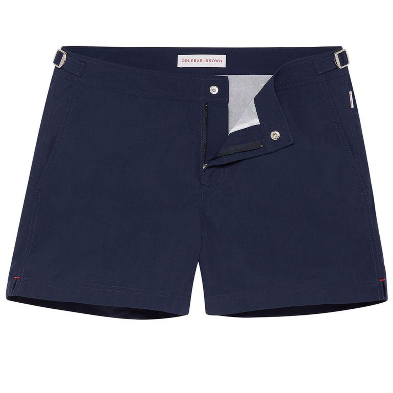 7630524649 Setter - Navy Shorter-Length Swim Shorts | Orlebar Brown