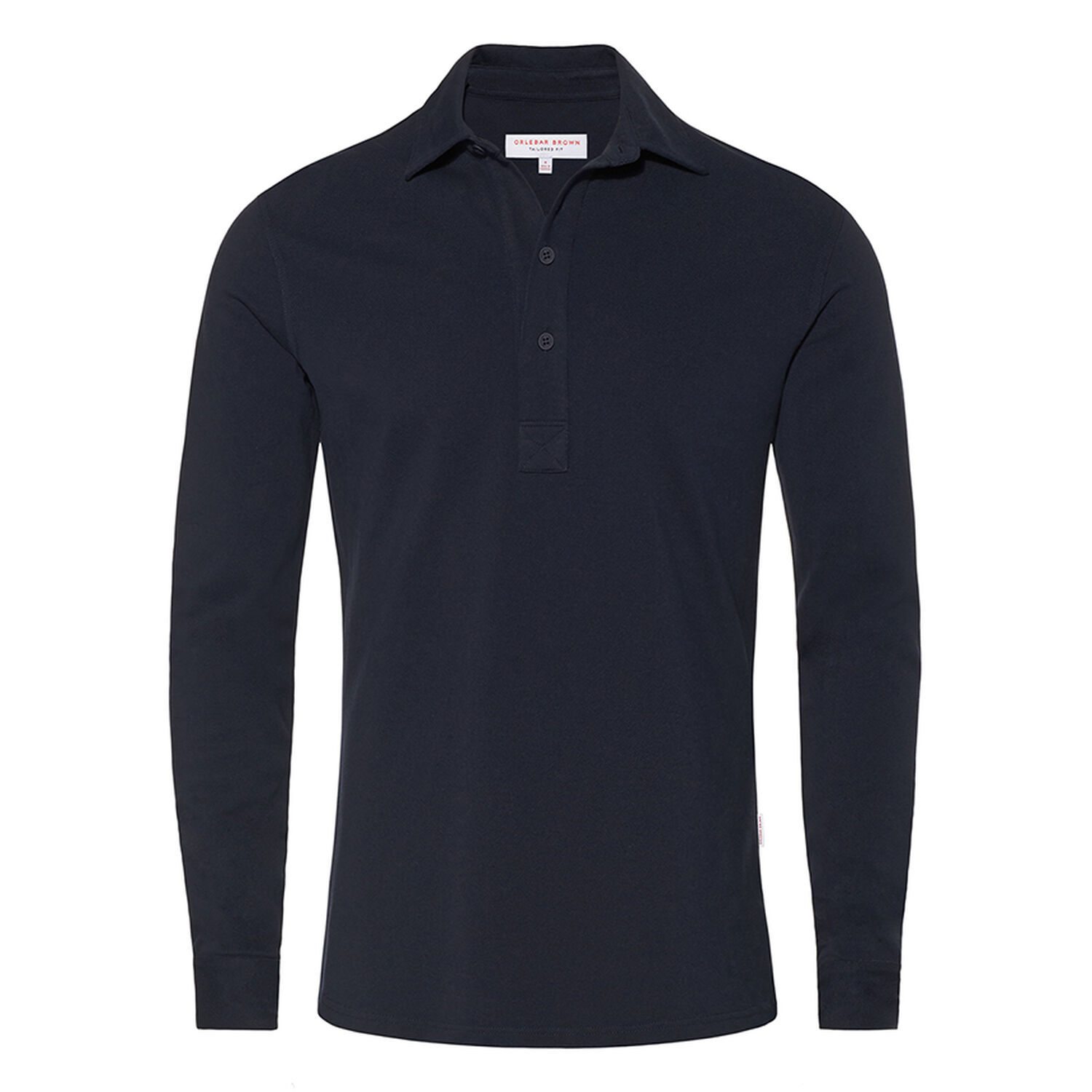 Sebastian Tailored Ls Navy Pique Tailored Polo Orlebar Brown