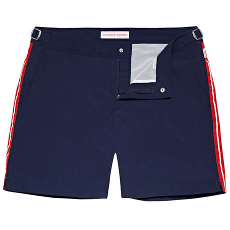 Orlebar Brown Bulldog NAVY/RESCUE RED