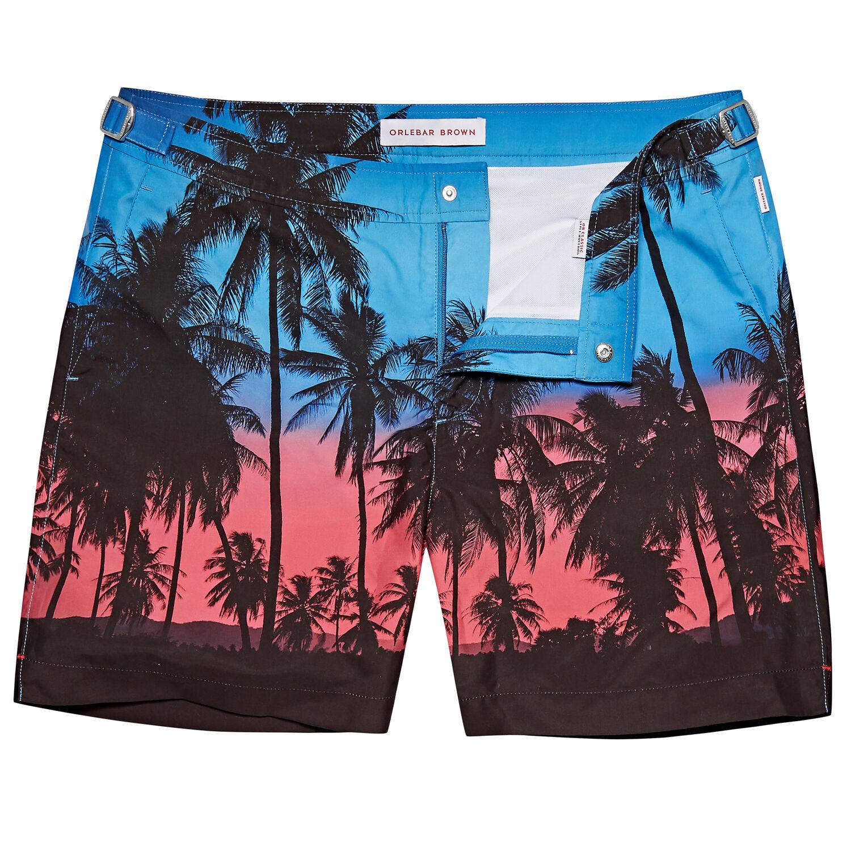 655482d4fe100 Bulldog - Keep Palm And Carry On Mid-Length Swim Shorts | Orlebar ...