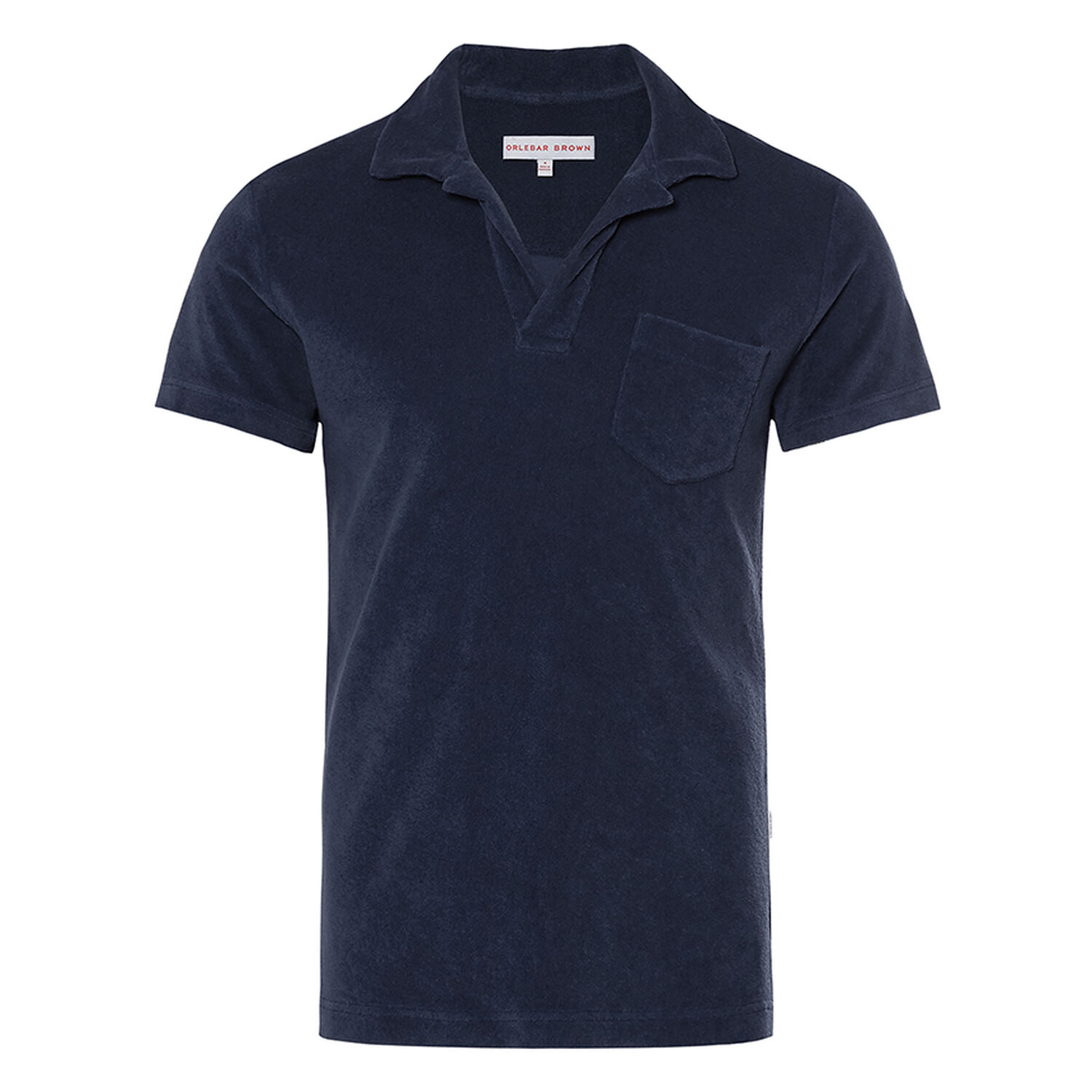 743b3ce5f7 Terry - Navy Towelling Resort Polo | Orlebar Brown