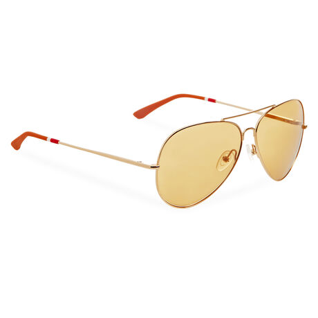 Orlebar Brown Aviator Sunglasses YELLOW GOLD/GINGERBREAD/B MIRROR