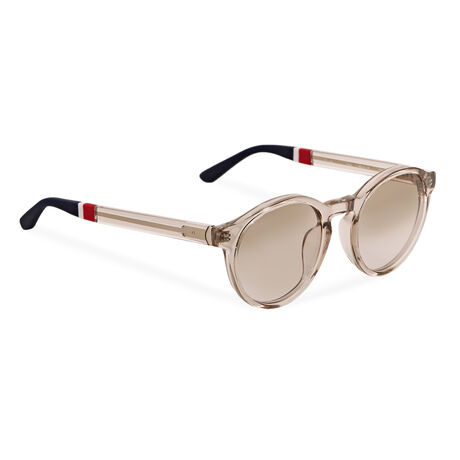 Orlebar Brown Round Sunglasses SMOKE/L GLD/NAVY/TAUPE G