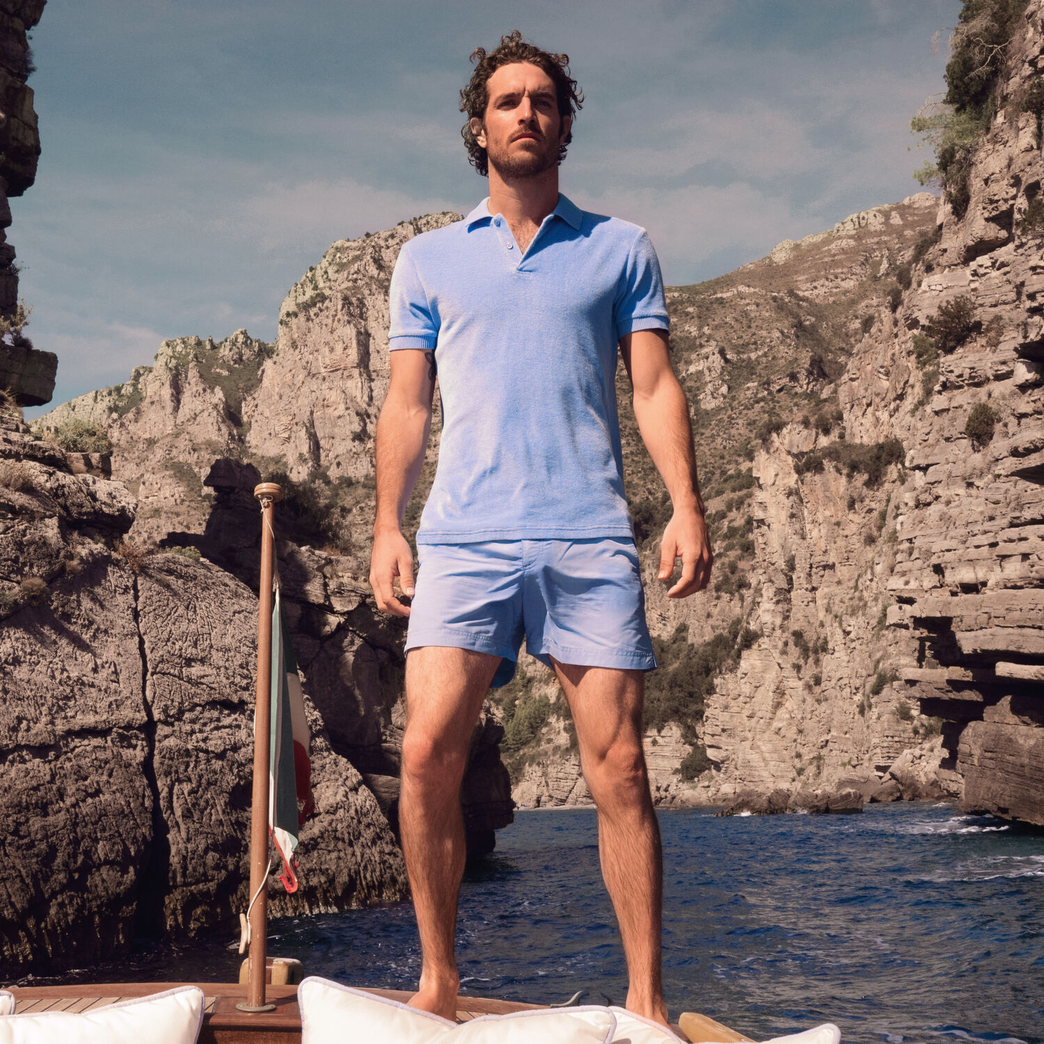 Orlebar Brown Dr No Towelling Polo RIVIERA