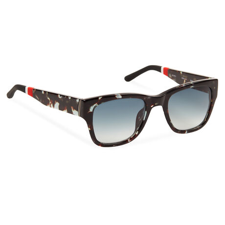 Orlebar Brown D-Frame Sunglasses TEAL T-SHELL/GUN/BLACK/TEAL GRAD