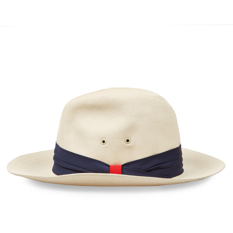 1eaf67ce65b00 Namibia - Canvas/Navy Canvas Panama Hat | Orlebar Brown
