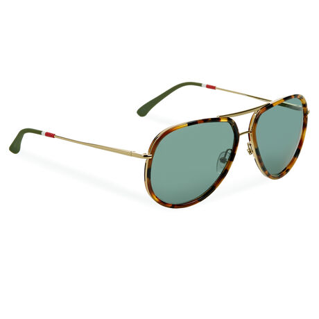 Orlebar Brown Aviator Sunglasses T-SHELL/YG/GREEN/AR