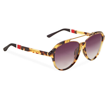 Orlebar Brown Aviator Sunglasses CLASSIC T-SHELL/Y GLD/BLACK/GREY GRD
