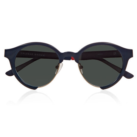 Orlebar Brown Round Sunglasses NAVY/NAVY/L GD/MOSS GRAD