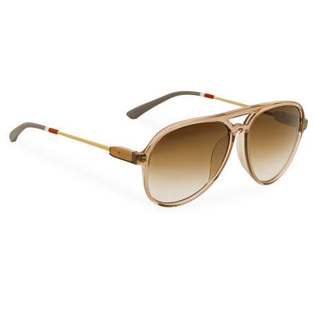 Orlebar Brown Aviator Sunglasses TOBACCO/Y GOLD/GR/BR G