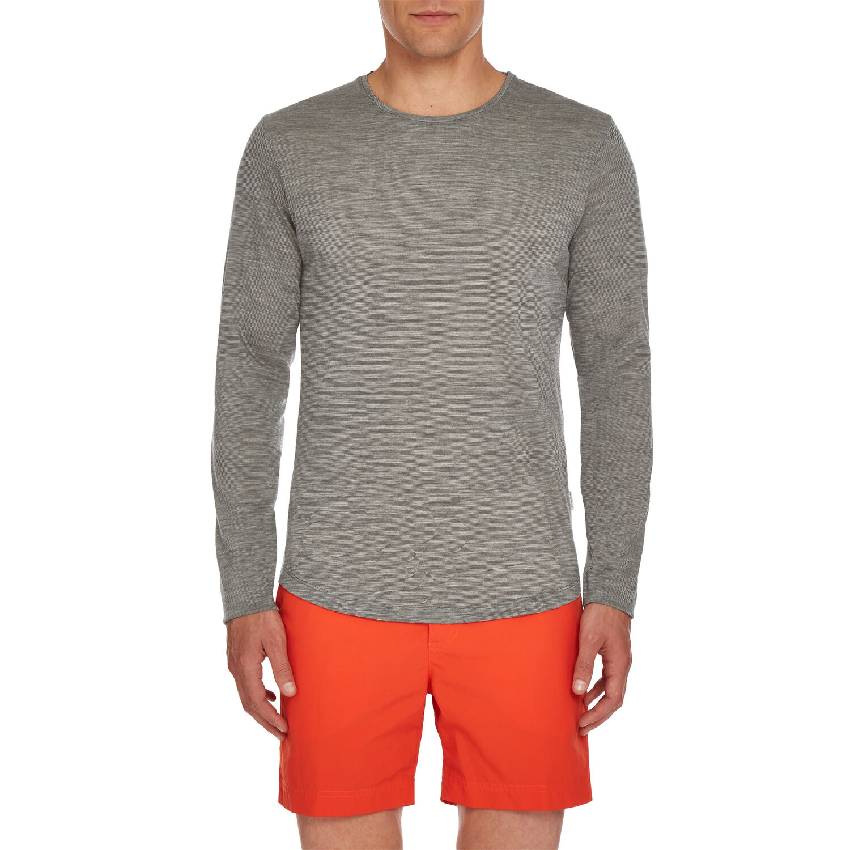 2475b29c70cb55 Ob-T Merino - Grey Mel Cloud Tailored-Fit Crew-Neck T-Shirt ...