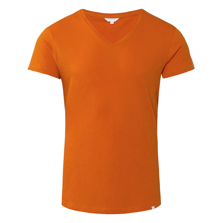 ddcafb7f Ob-V - Dark Papaya Blue V-Neck T-Shirt   Orlebar Brown