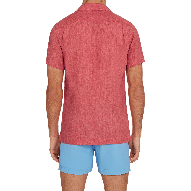 Orlebar Brown Thunderball Shirt CARDINAL