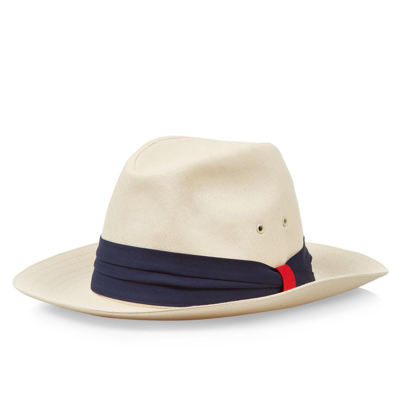 bc917a18ec4 Namibia - Canvas Navy Canvas Panama Hat