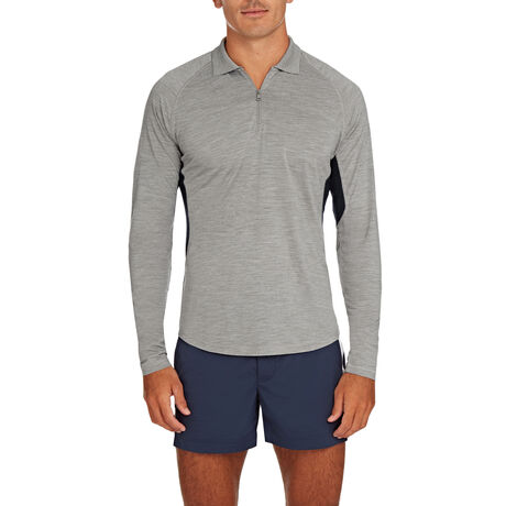 Orlebar Brown Lewis Merino GREY MELANGE/NAVY