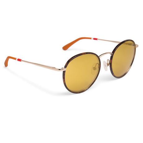 Orlebar Brown Round Sunglasses COFFEE T-SH/GD/GINGERBREAD/BR