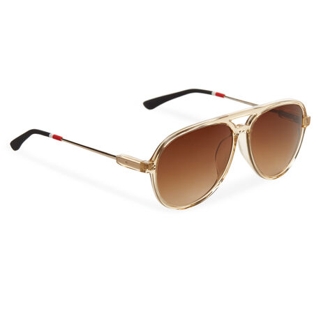 Orlebar Brown Aviator Sunglasses APRICOT/L GOLD/BLACK/BROWN