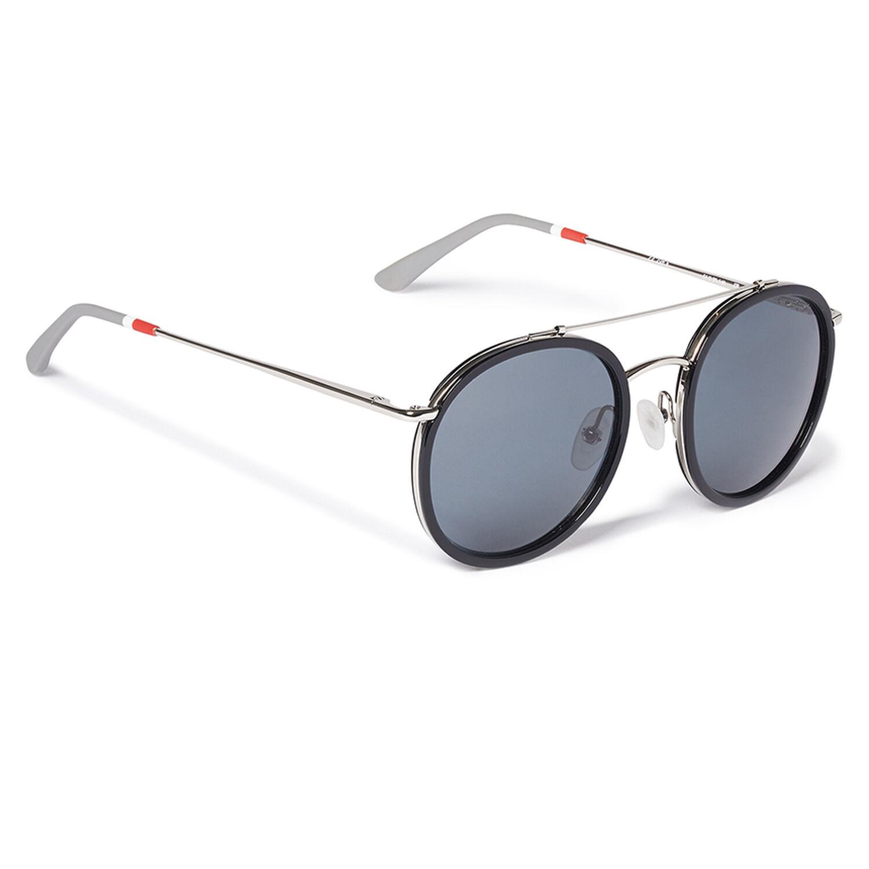 Orlebar Brown Round Sunglasses BLACK/SI/GREY/GR