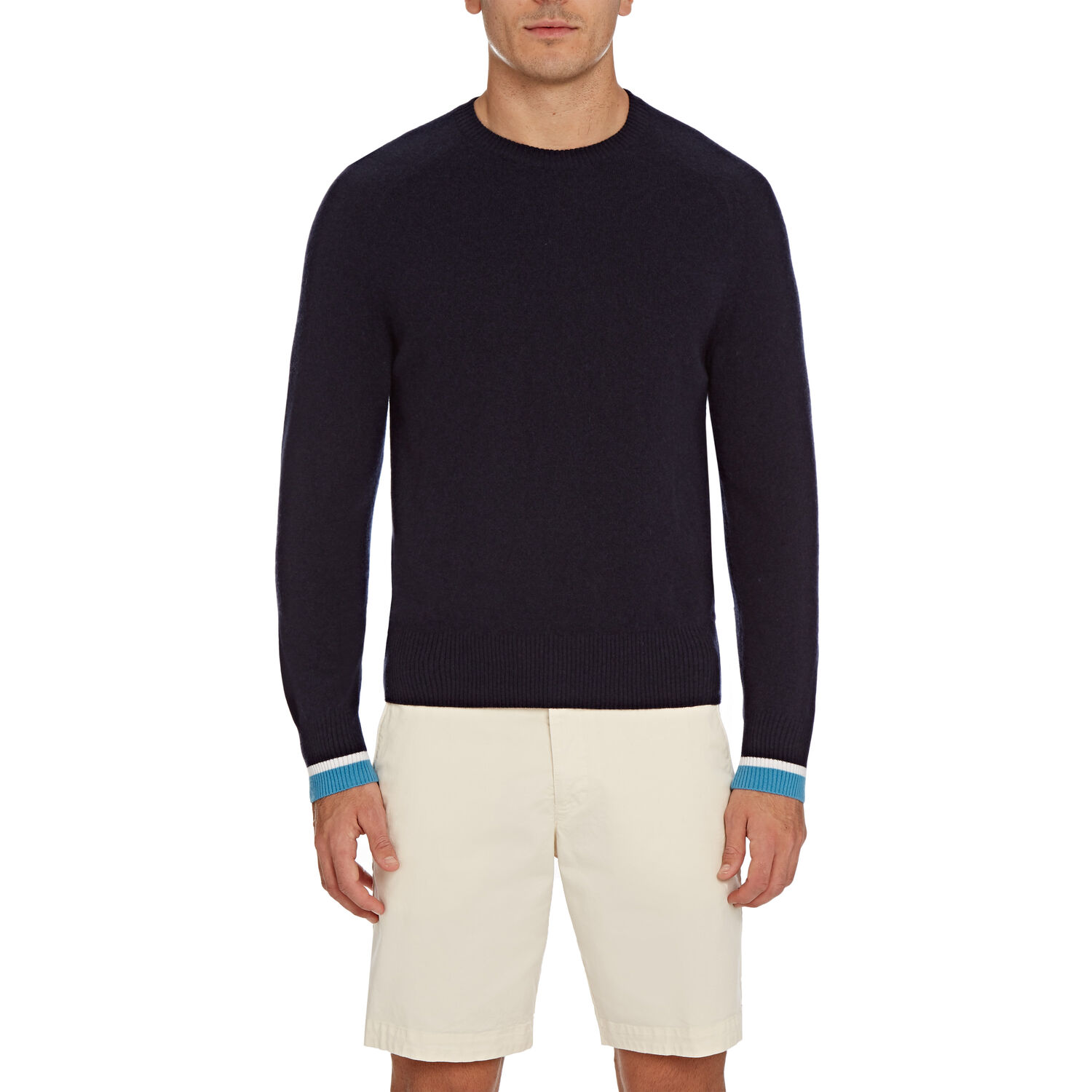 Orlebar Brown Ethan Cashmere NAVY/BAHAMA BLUE