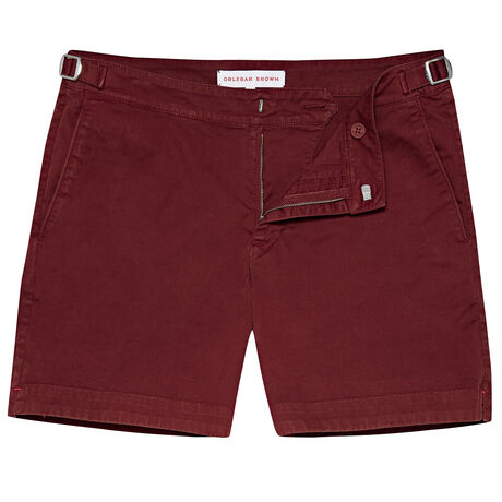 Orlebar Brown Bulldog Cotton Twill MULBERRY
