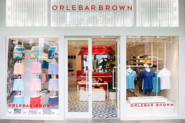 Orlebar Brown Store in Bal Harbour, Miami.