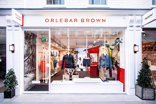 Orlebar Brown Sloane Avenue Store in London.