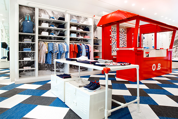 Orlebar Brown Sloane Avenue Store in London.