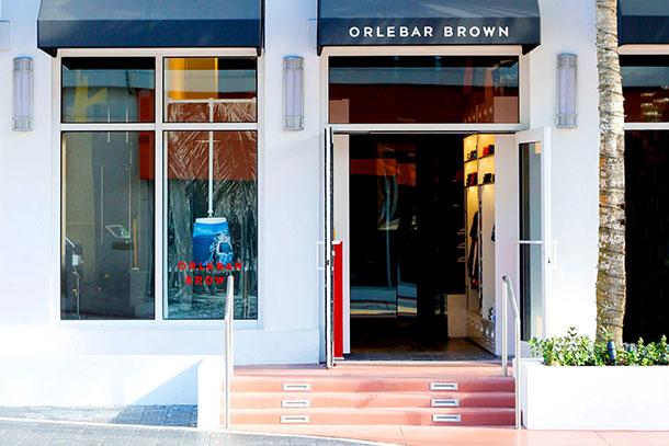 Orlebar Brown Store in The Setai Hotel, Miami.
