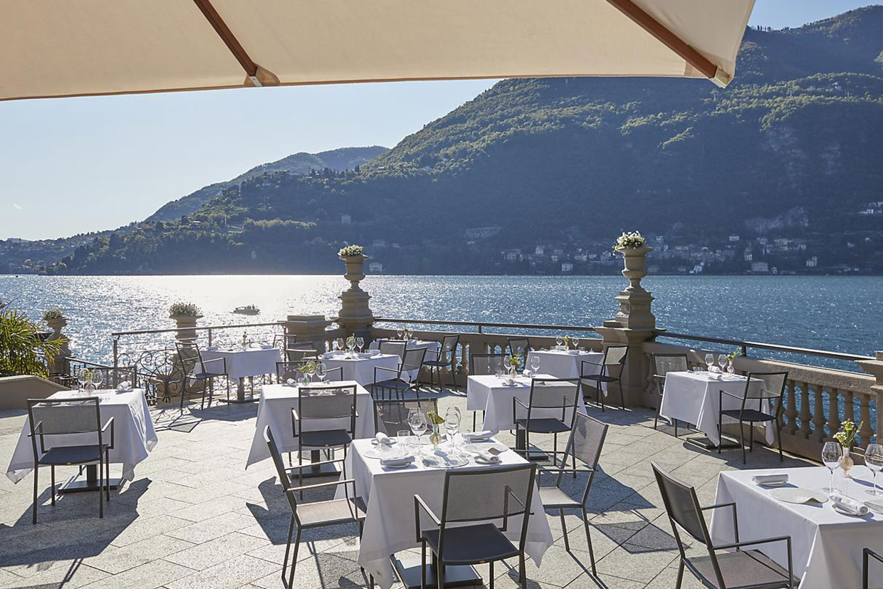 Lake Como fine dining on the Laria terrace