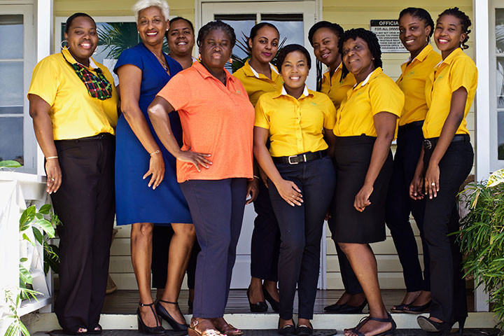 Orlebar Brown - Jeanette Cadet and Mustique Employees